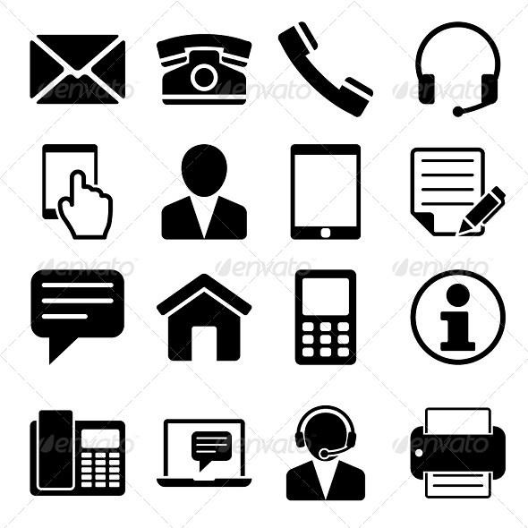 Contact Us Icons Set - Web Icons