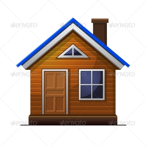 House Icon Isolated on White Background - Buildings Objects