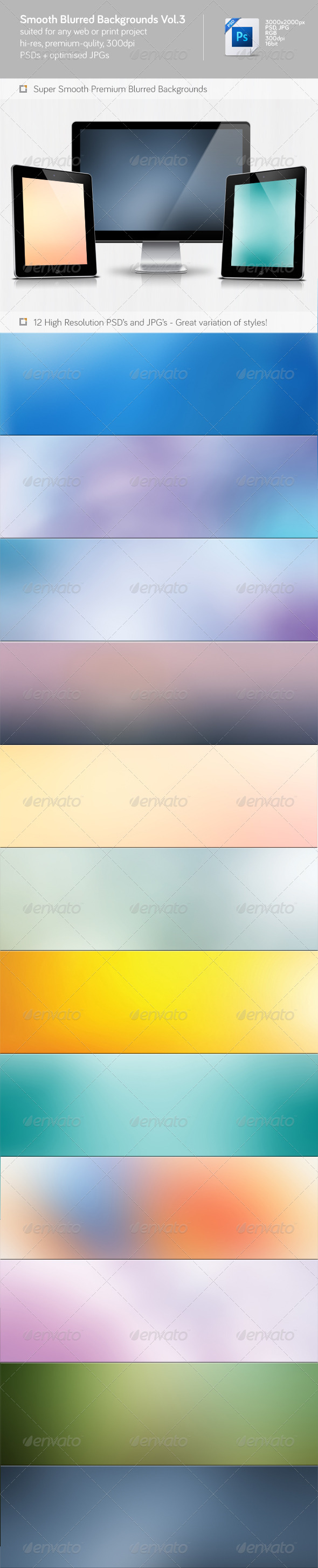 Smooth Blurred Backgrounds Vol.3 - Abstract Backgrounds