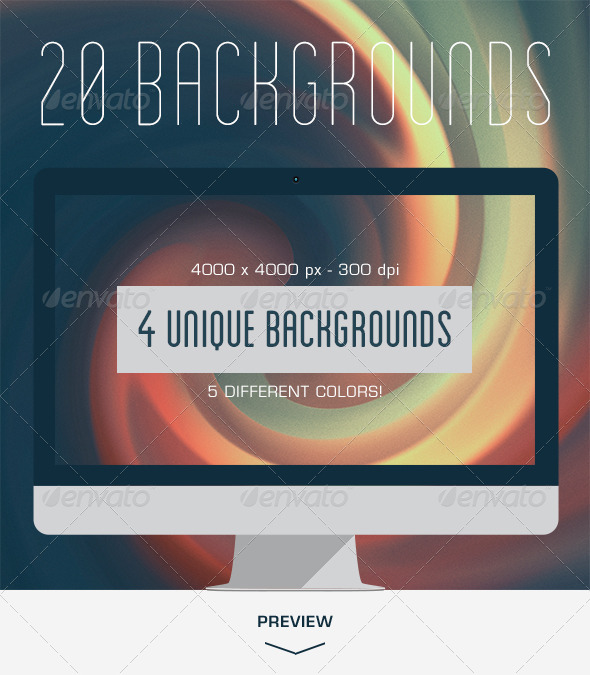 20 Dreamy Backgrounds V.02 - Abstract Backgrounds
