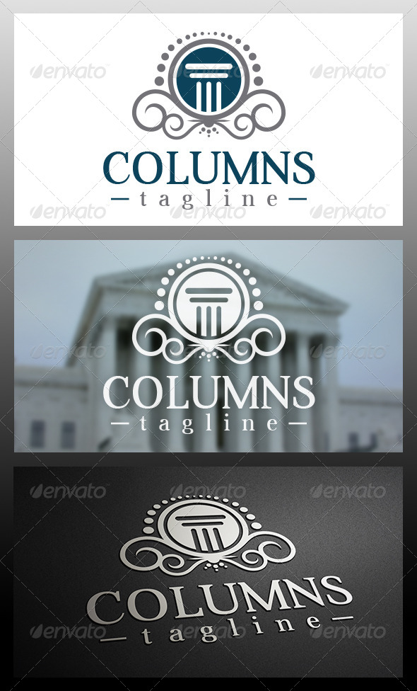 Law Firm Logo Template - Crests Logo Templates