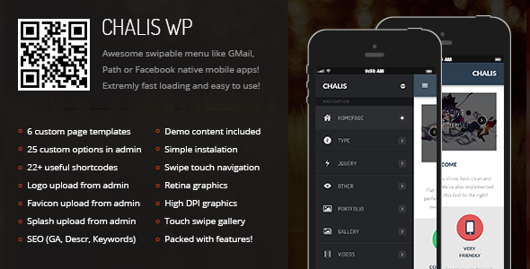 Chalis Mobile | Mobile WordPress Theme