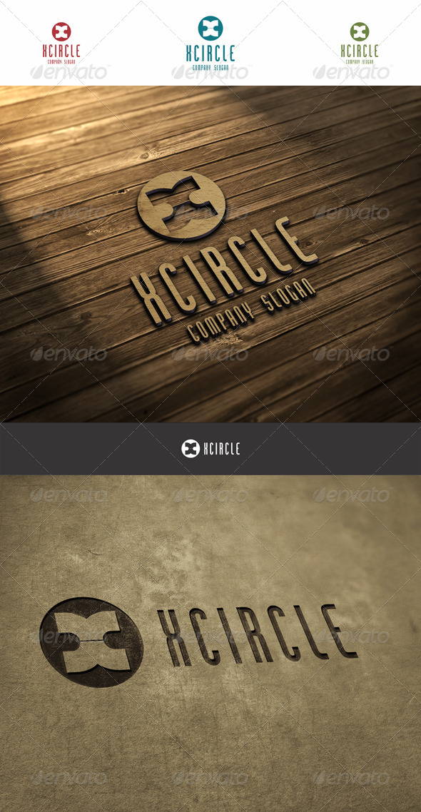 X Circle Logo - Letters Logo Templates