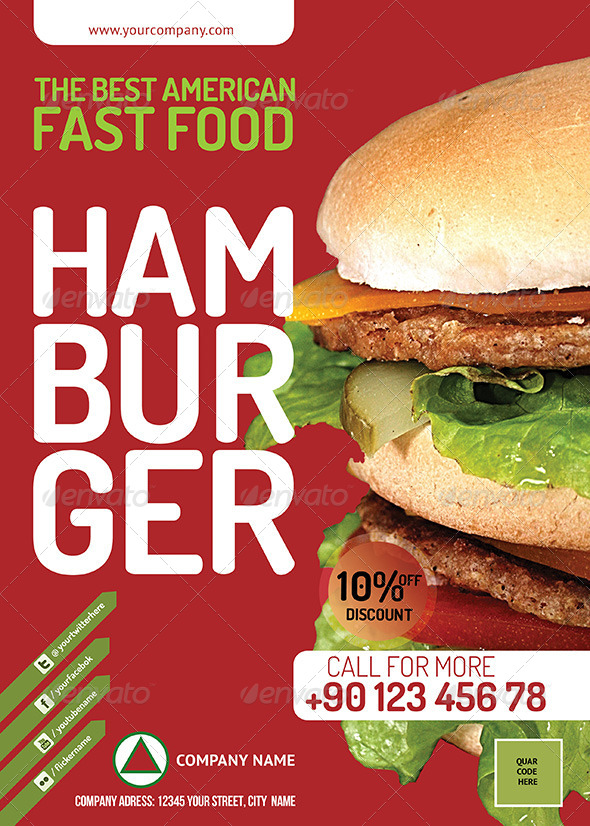 Fast Food Restauran Flyer PSD - Corporate Flyers
