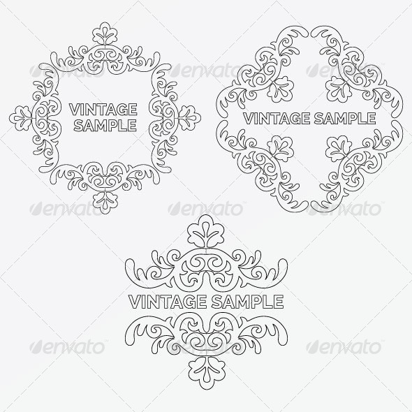 Vintage Frame 66 - Decorative Vectors