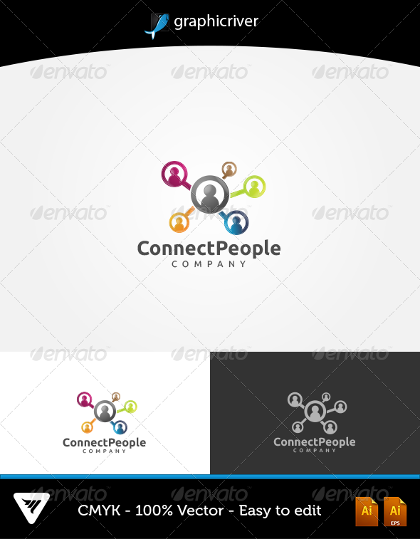 Connect People - Logo Templates