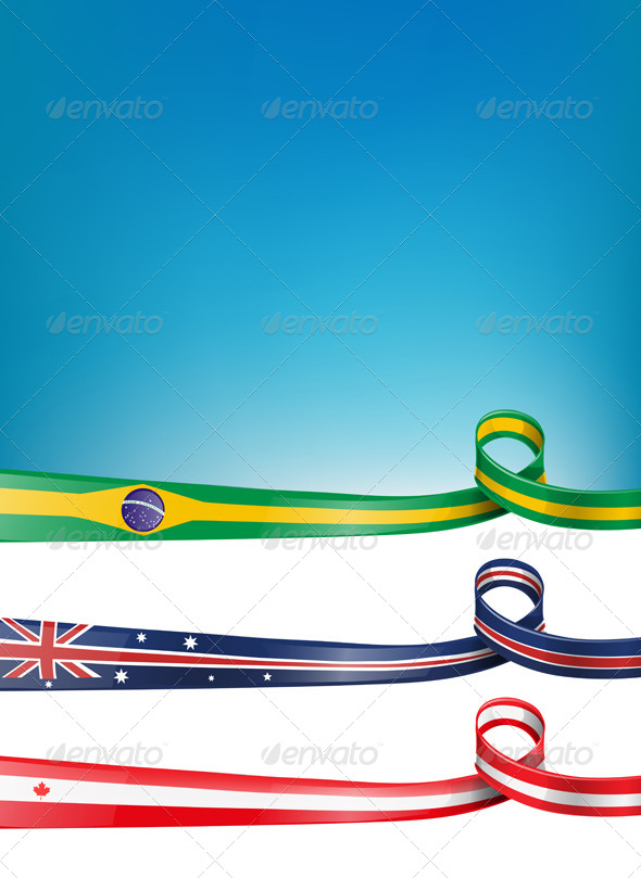 Background Flag Set - Abstract Conceptual