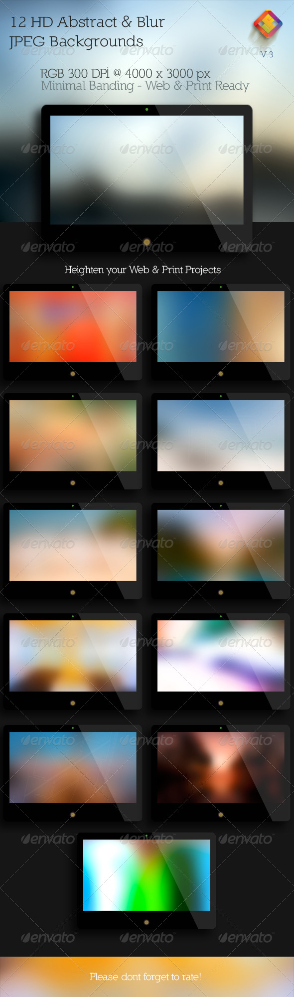 Abstract & Blur Backgrounds V.3 - Abstract Backgrounds