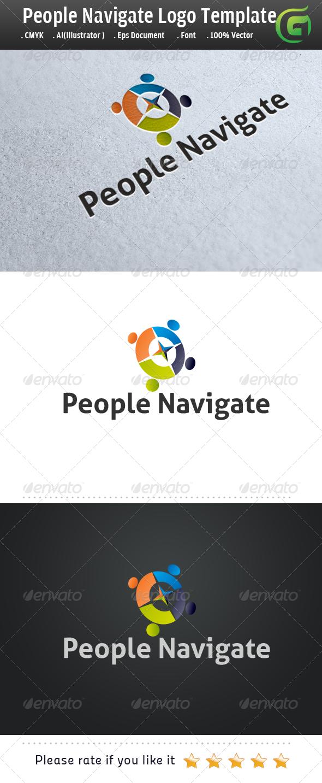 People Navigate - Humans Logo Templates