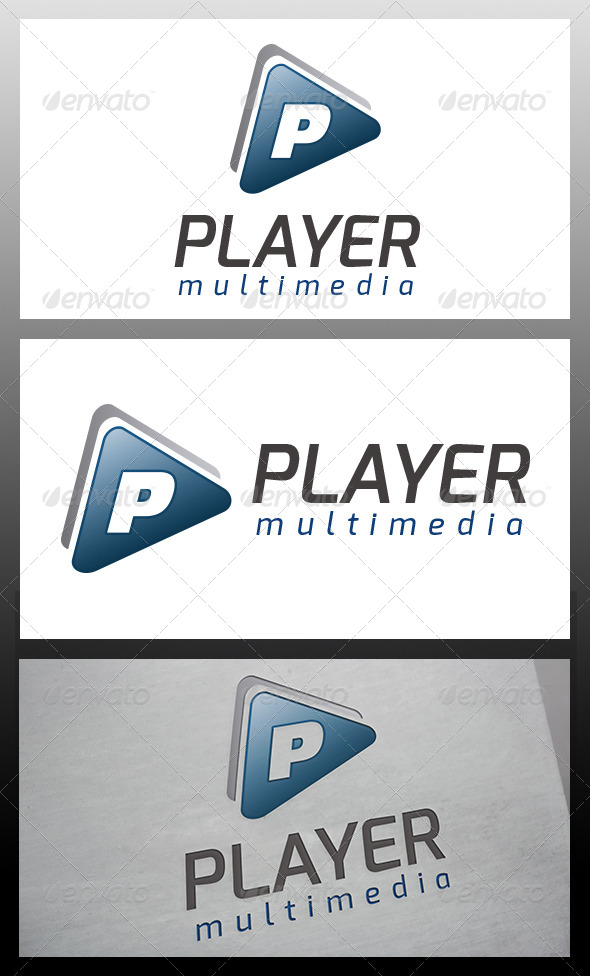 Player Logo Template - Letters Logo Templates