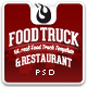 Food Truck & Restaurant 10 Styles - PSD Template Nulled