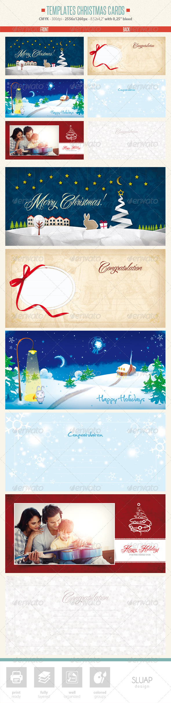 Templates Christmas Cards - Holiday Greeting Cards