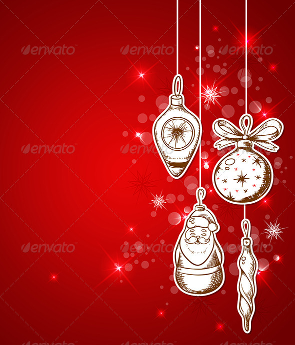Red Christmas Background - Christmas Seasons/Holidays