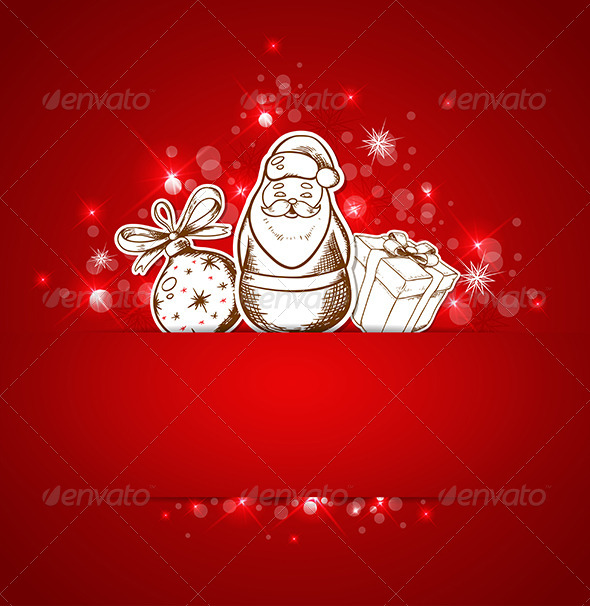 Background with Santa Claus - Christmas Seasons/Holidays