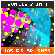 105 Soft Waves + Halftone Photoshop Brushes Bundle - GraphicRiver Item for Sale