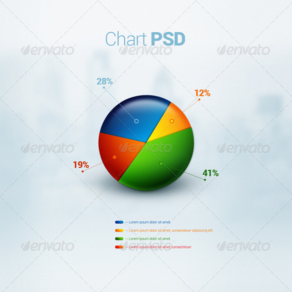 Business Chart PSD - Infographics