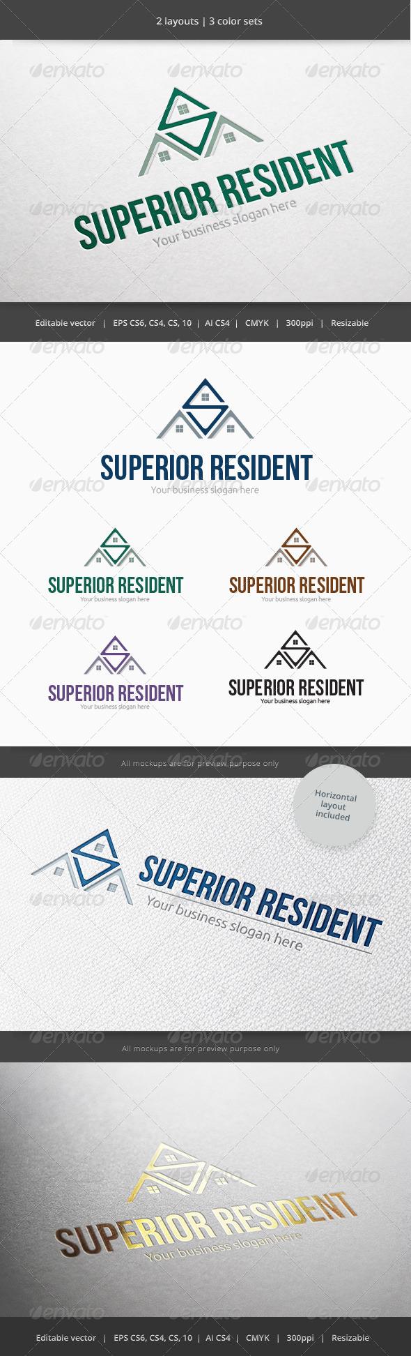 Superior Resident Home Logo - Buildings Logo Templates