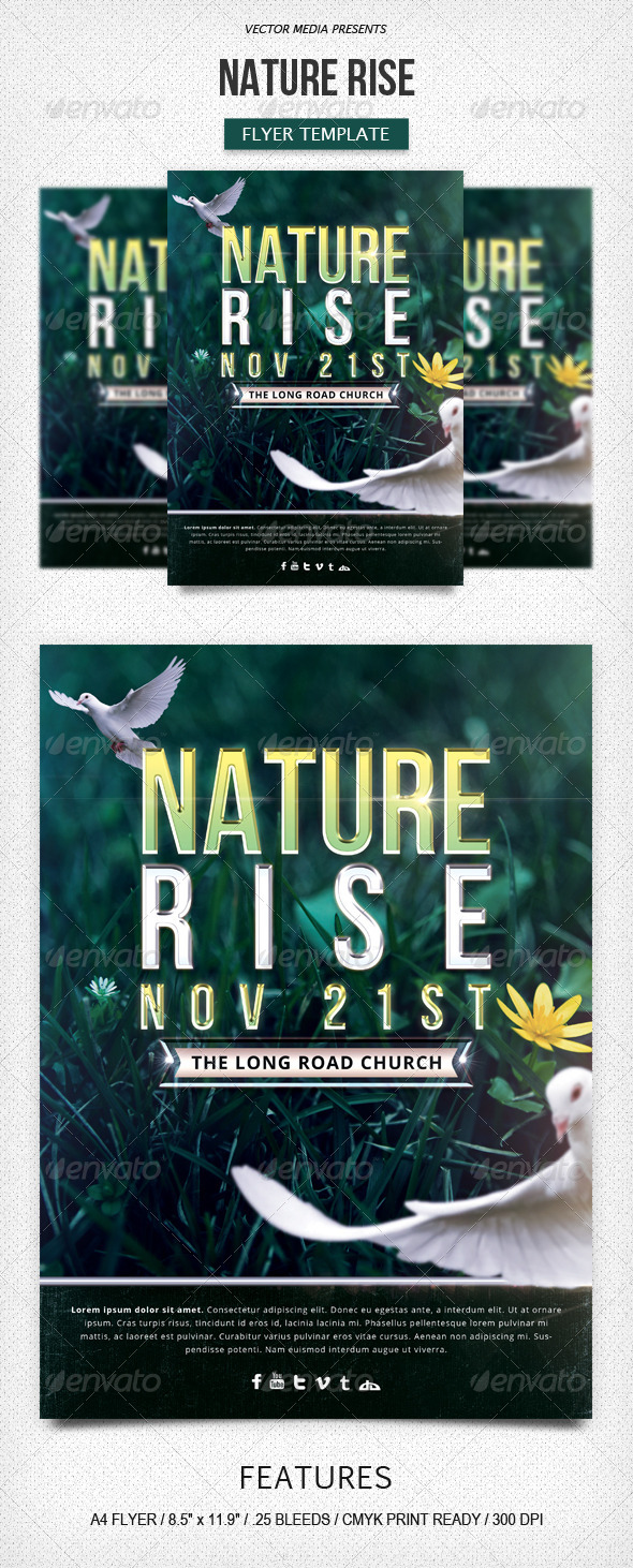 Nature Rise - Flyer - Church Flyers