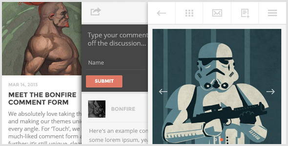 TOUCH: A Lighter-than-air WordPress Mobile Theme