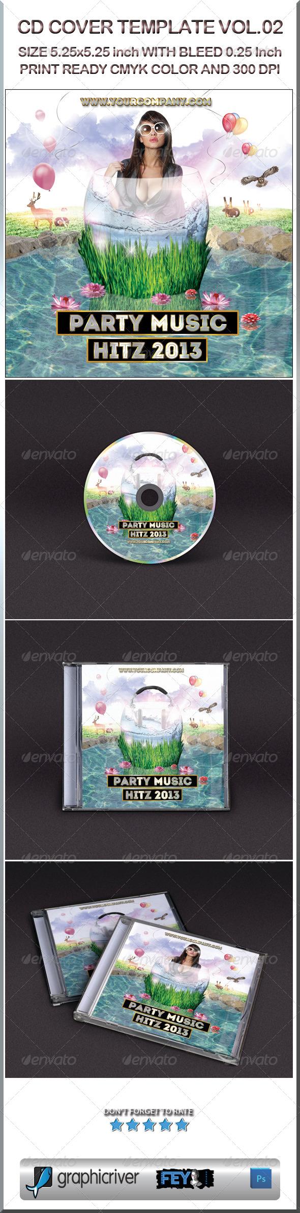 CD Cover Template Vol.02 - CD & DVD Artwork Print Templates