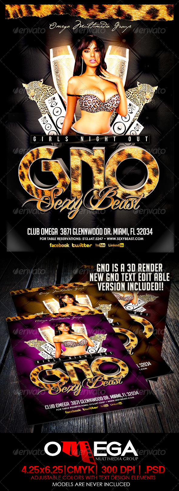 GNO Sexy Beast - Events Flyers