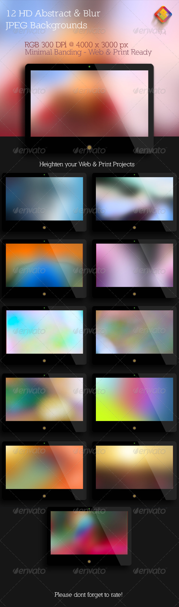Abstract and Blur Backgrounds  V.4 - Abstract Backgrounds