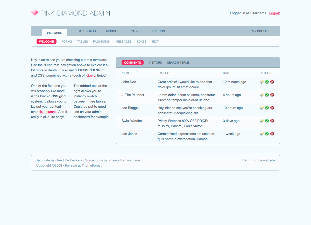 Free Download Pink Diamond Admin Nulled Latest Version