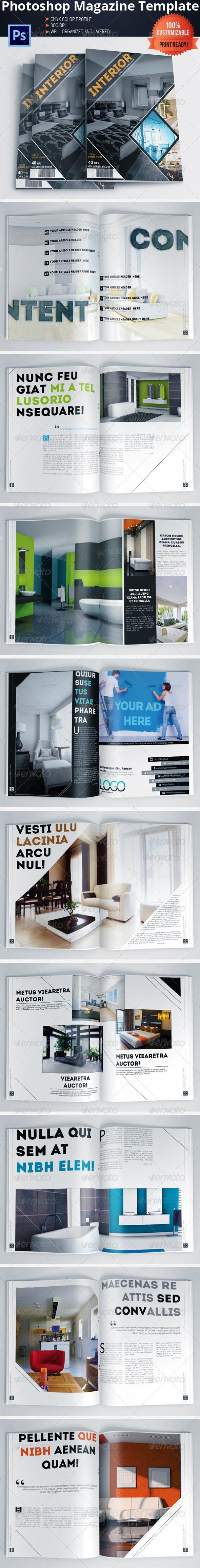 Architecture and Interior Design Magazine/Brochure - Magazines Print Templates