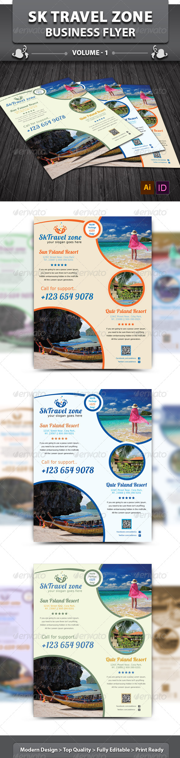 Travel / Tourism Business Flyer | Volume 1 - Corporate Flyers
