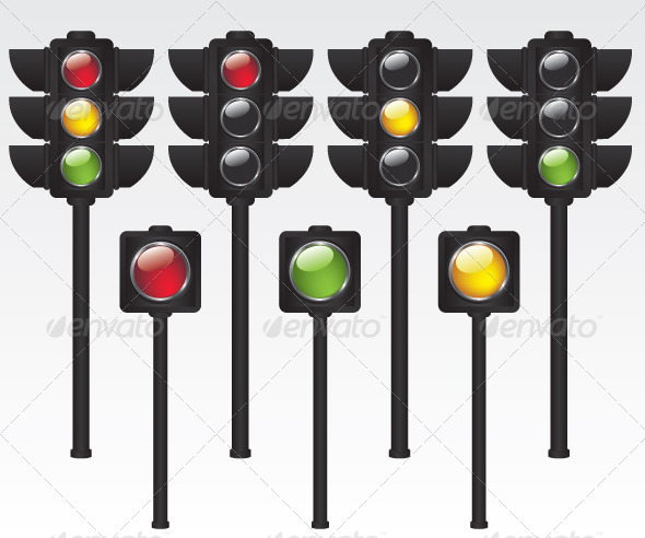 Traffic Light Illustration - Technology Conceptual