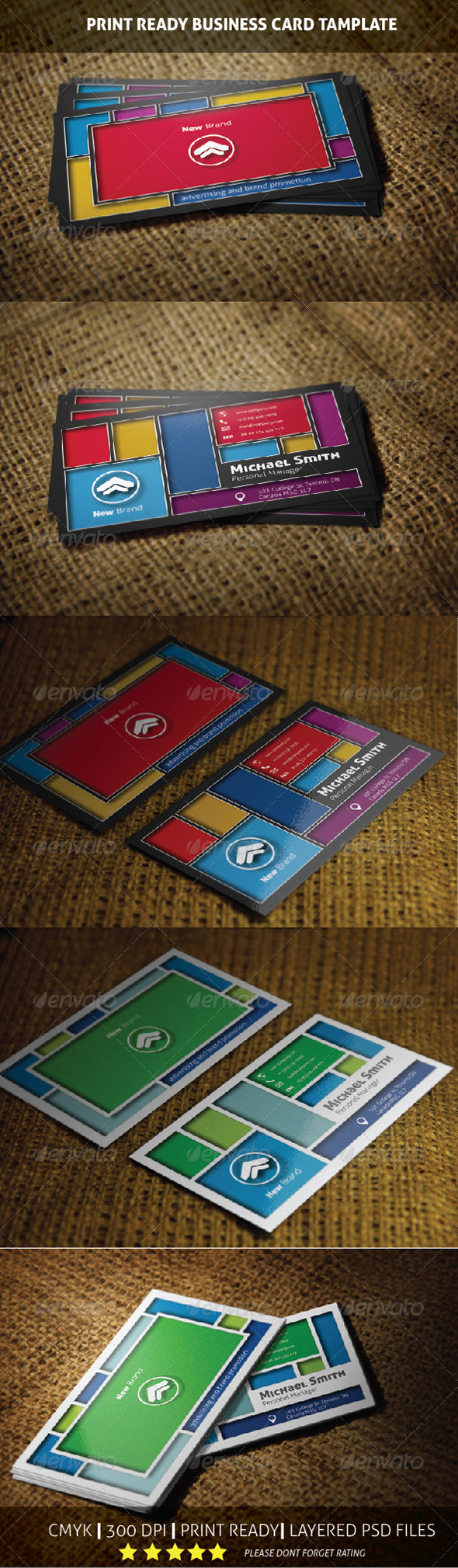 New Brand Creative Business Card Template - Creative Business Cards