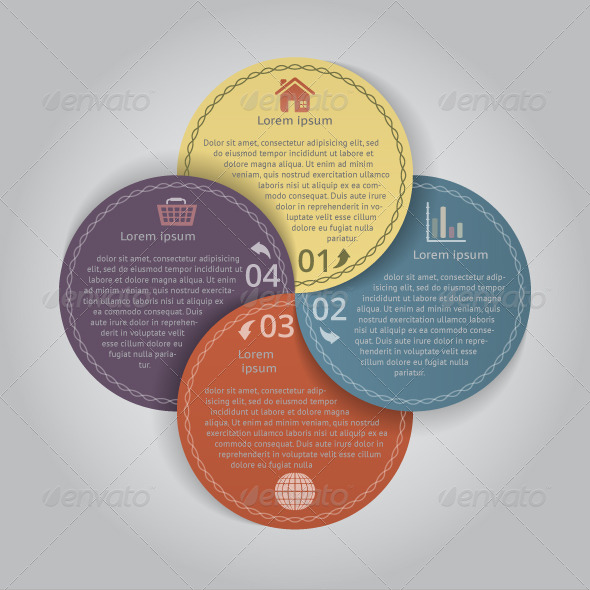 Circular Banners with 4 Options - Infographics