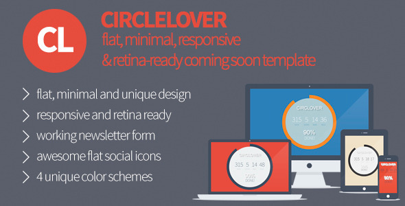 CircLover – Flat Responsive Coming Soon Template