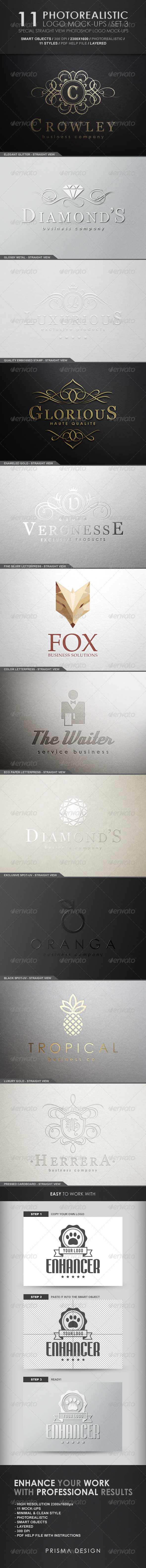 11 Photorealistic Logo Mock-Ups / Set 3 - Logo Product Mock-Ups