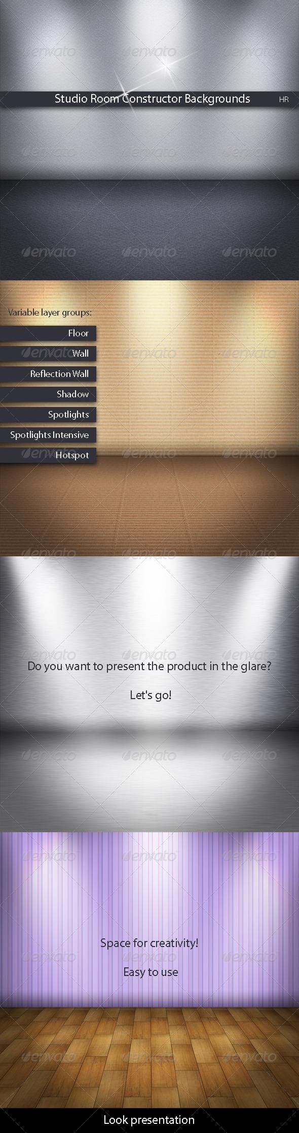 Studio Room Constructor Backgrounds - Backgrounds Graphics