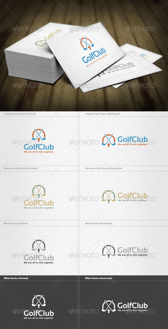 Golf Club Logo - Objects Logo Templates