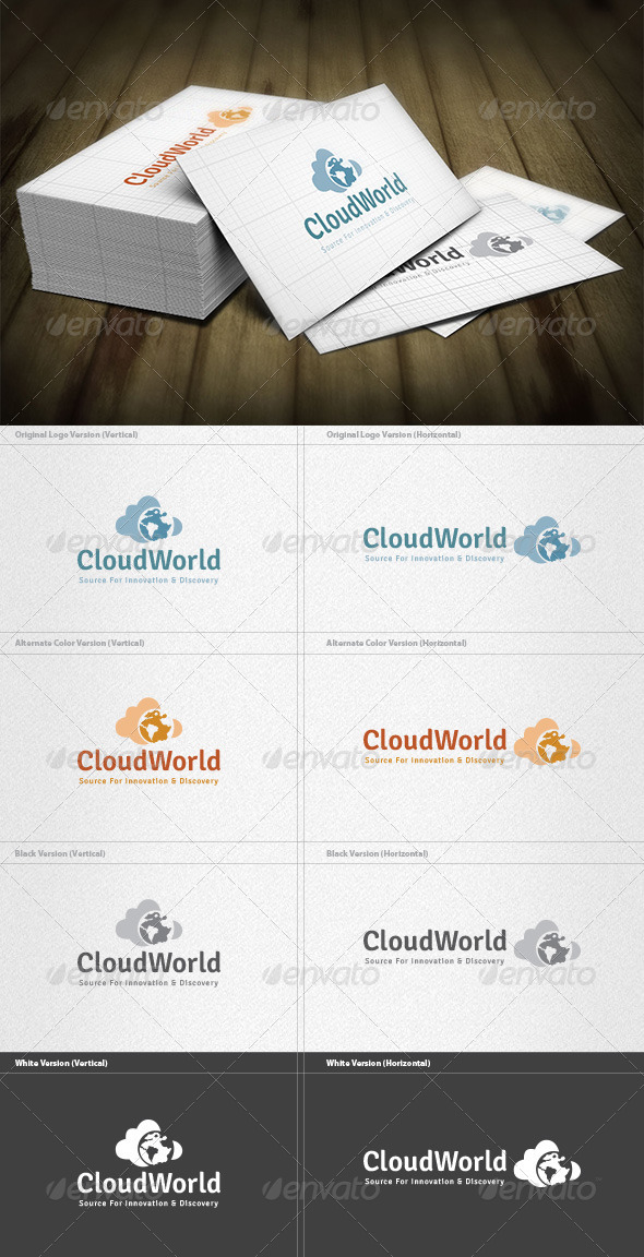 Cloud World Logo - Symbols Logo Templates