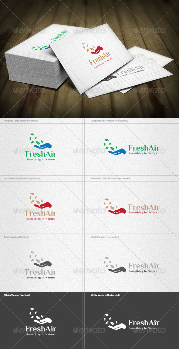 Fresh Air Logo - Nature Logo Templates