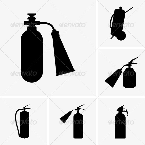 Fire Extinguishers - Man-made Objects Objects