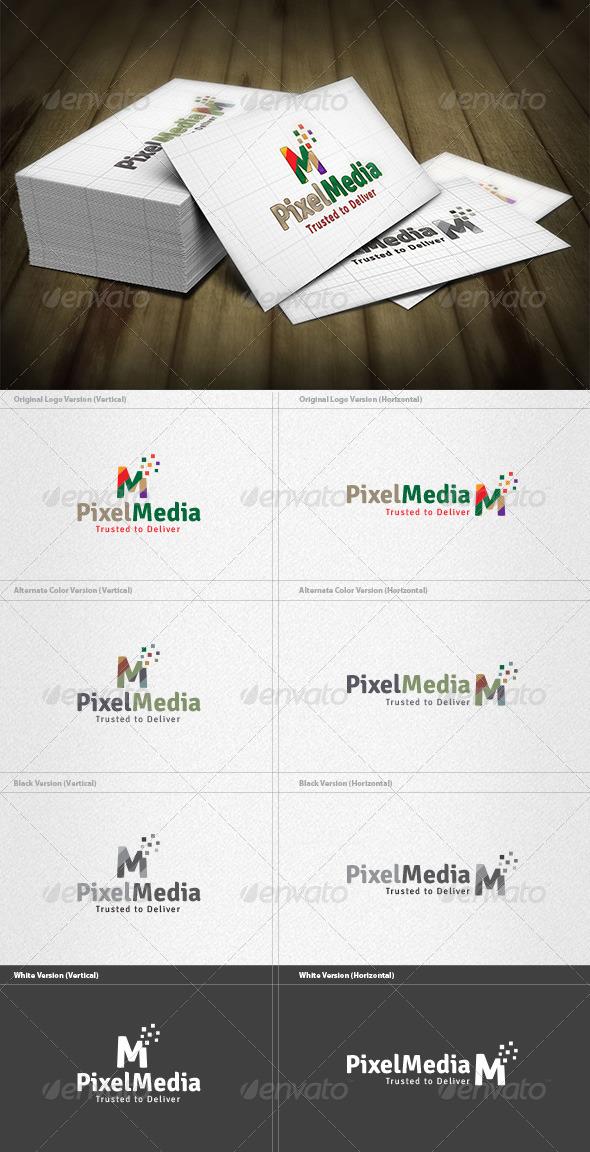 Pixel Media Logo - Vector Abstract