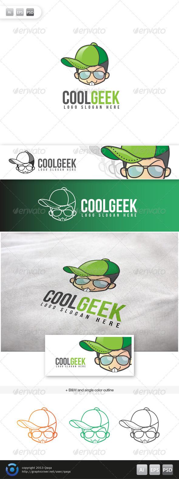 Cool Geek Logo - Logo Templates