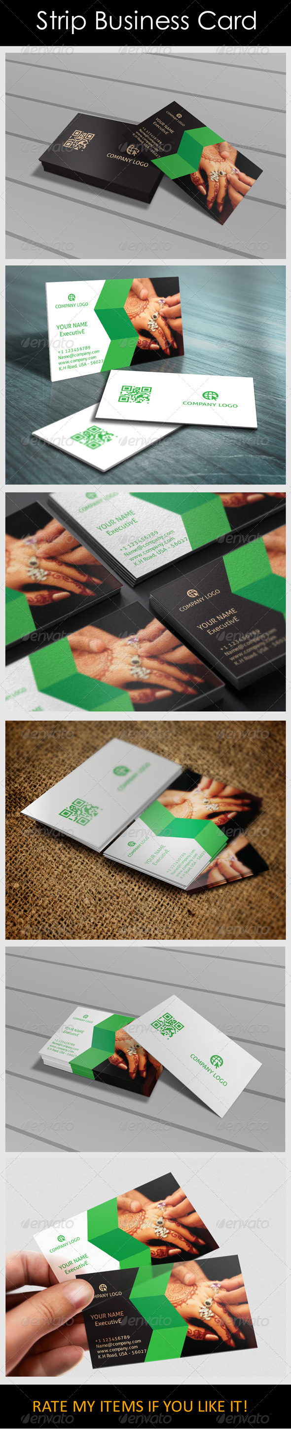Strip Business Card - Creative Business Cards