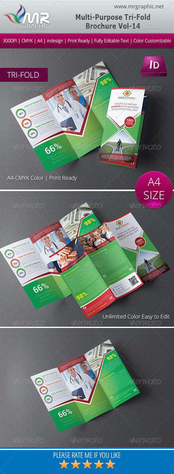 Multipurpose Business Tri-Fold Brochure Vol-14 - Corporate Brochures