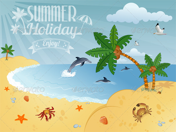 Summer Poster - Travel Conceptual