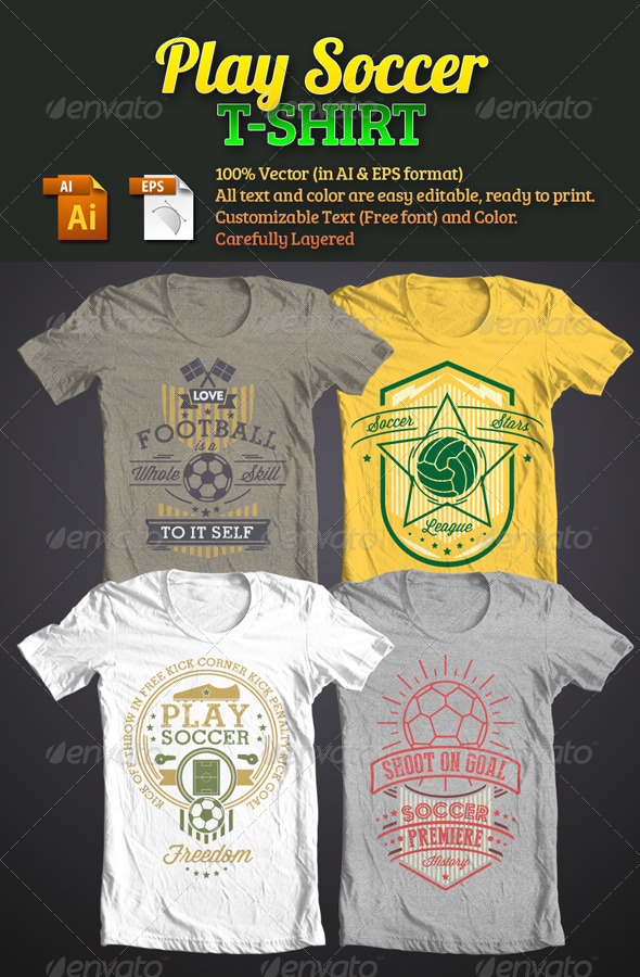 Play Soccer T-Shirt - Sports & Teams T-Shirts