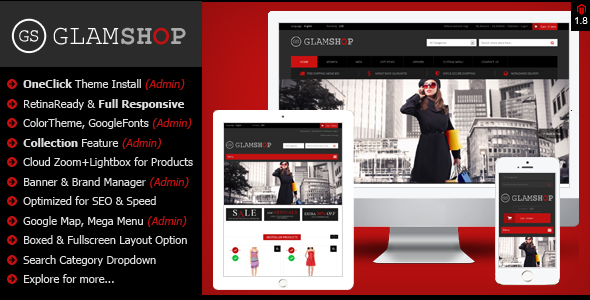 Glamshop - Responsive & Retina Ready Magento Theme - Fashion Magento