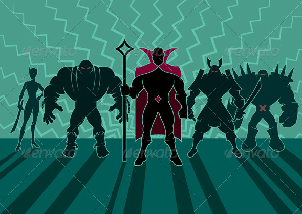 Supervillain Team - People Characters