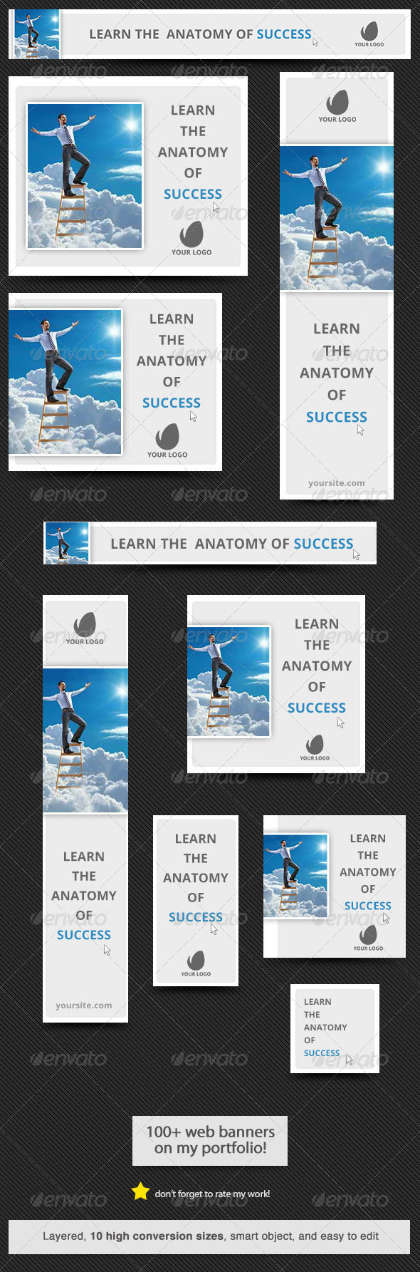 Anatomy of Success Web Banner - Banners & Ads Web Elements