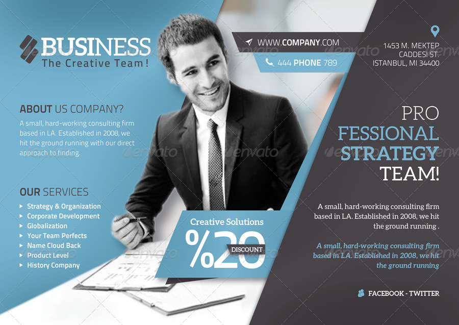 Corporate Flyer Template By Grafilker  Graphicriver