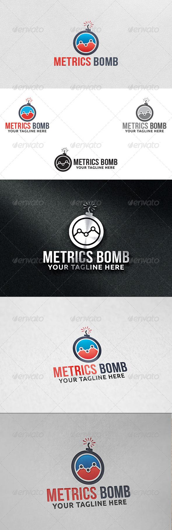 Metrics Bomb - Logo Template - Objects Logo Templates